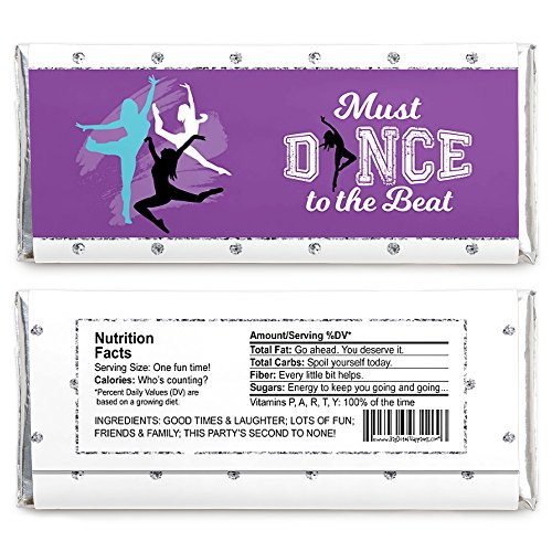 Must Dance to The Beat - Dance - Candy Bar Wrapper Dance Party Or Birthday Party Favors - Set of 24 by Big Dot of Happiness (Image #1)