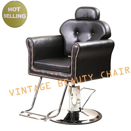 Beauty4Star Vintage Old Barber Salon Chair for All Purpose Styling Shampoo Eyebrow Waxing