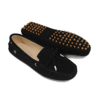 49d1646e50e Doris Fashion Women s Suede Calf Leather Loafer Flats Driving Moccasin Work  Casual Doug Shoes Black 5
