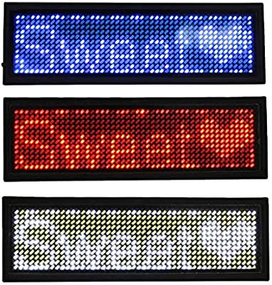 LED Badge Name Message Sign Scrolling Bar Programmable Tag Message Board