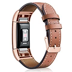 Everytime you work at the desk, walk on the street or date with someone, when you raise your wrist, when your Fitbit Charge 2 inadvertently exposed from the sleeve, every once in a glance, you will find Hotodeal vibrant leather bands' fantast...