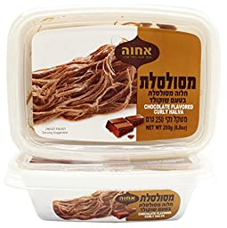 Achva Kosher Chocolate Flavored Curly Halva (Pack of 2)