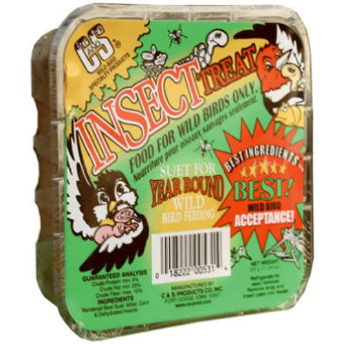 Cands Products CS12531 11-3/4-Ounce Insect Treat Suet ()