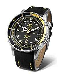 Vostok Europe Anchar Men's Diver Watch Black with Yellow NH35A/5105143