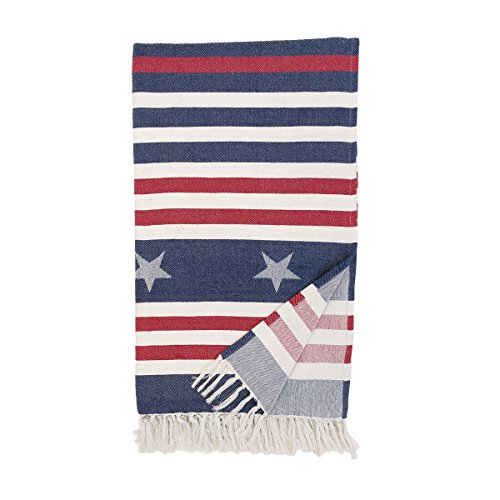 C&F Home Stars and Stripes Patriotic 4th of July Memorial Day Labor Day Independence Day Americana Liberty Throw 50 x 60 Throw Blue