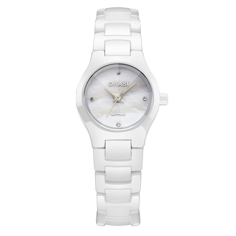 Ladyセラミック腕時計/防水ホワイトミニマリストWatches /アウトドアクォーツwatch-b B06XJGSFNV
