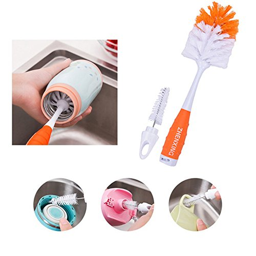 Baby Bottle Cleaning Brushes Spin Sponge Feeding Milk Nipple