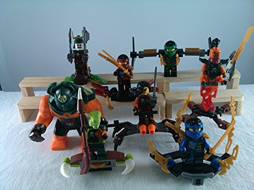 [SUPAK® Ninja Nadakhan Dogshank Clancee Cyren Snake MiniFigures Toy Super Heroes Series Action Figure Building Blocks Brikcs Set Compatible] (Gogo Big Hero Six Costume)