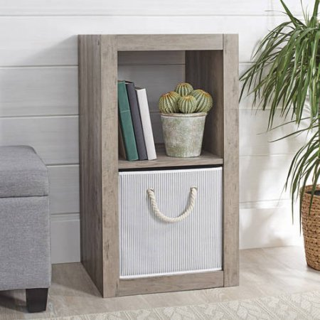 Better Homes and Gardens 2-Cube Organizer (Rustic Grey)