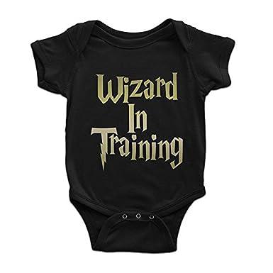 7cf4670cc Harry Potter Wizard in Training Infant Bodysuit (12-18 Months) Black: Amazon .co.uk: Clothing