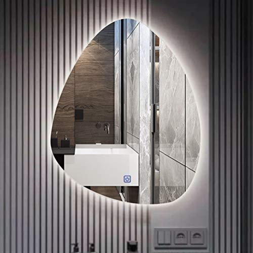 Bathroom mirror LED Lighted Backlit Mirror, Wall Mounted Water Drop Shape Modern -