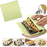 Japanese Plastic Nonstick Surface Sushi Mat Roll Mat (Makisu) 10'' x 10''