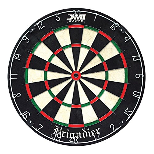 - DMI Sports Brigadier Regulation-Size Staple-Free Bristle Dartboard with Staple-Free Wiring System and Bullseye