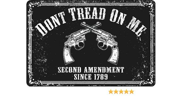 DON/'T TREAD ON MY RIGHTS LICENSE PLATE SECOND AMENDMENT GUN CONTROL 2ND L177