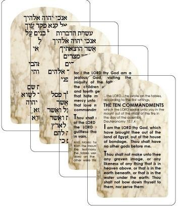 The Ten Commandments Card Game 900 Card Company T-1