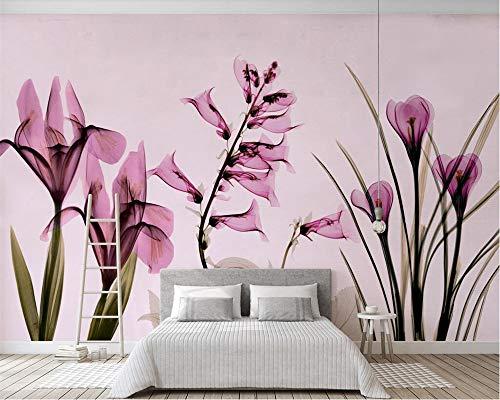 Cheap  ShAH Custom 3D Wallpaper Mural Floor Sticker Nordic Minimalist Aesthetic Pink Floral..