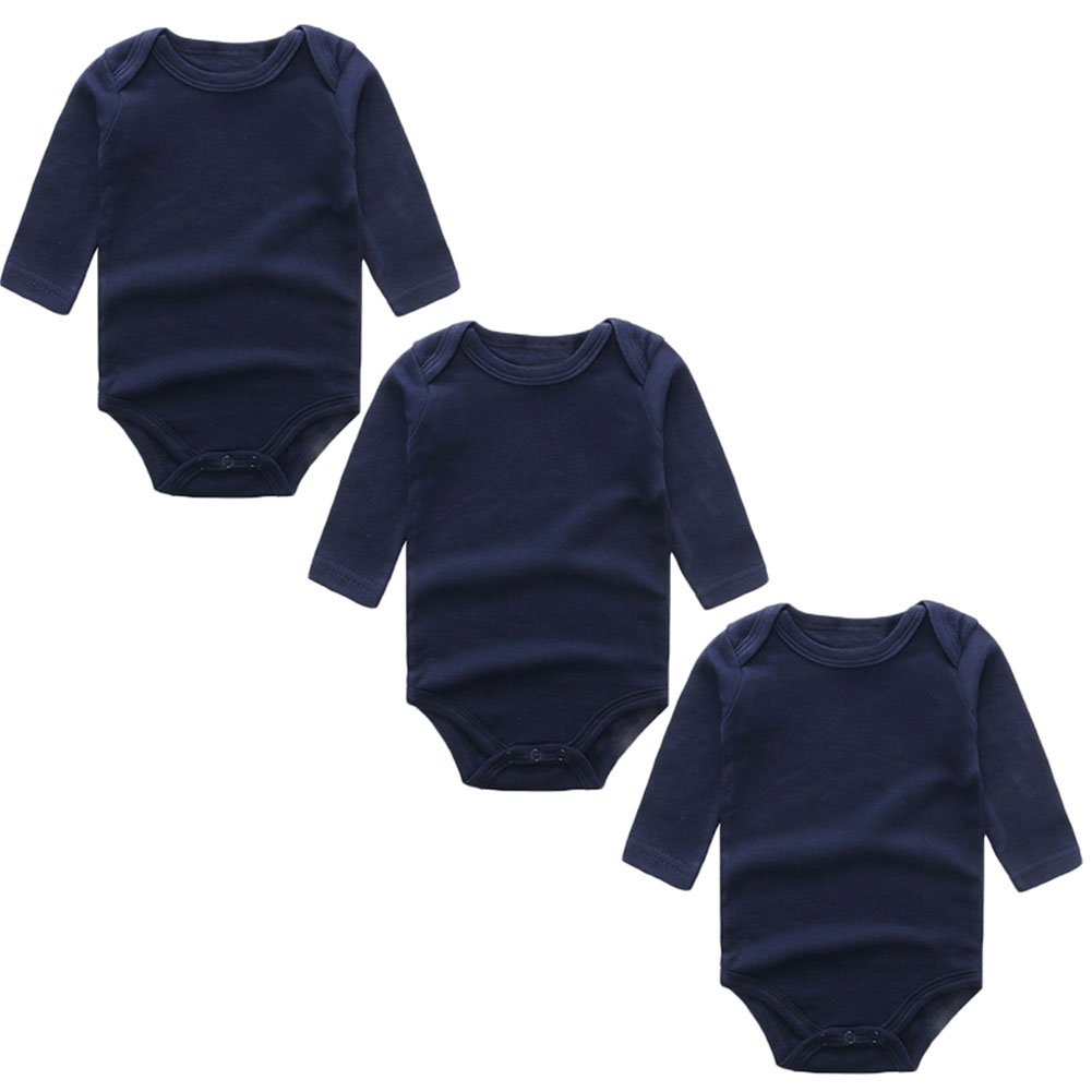 3a0955f4f642 100% Cotton Newborn Baby Bodysuits for Infant Girls Boys
