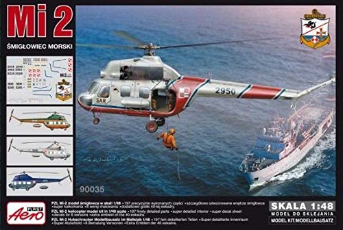 Aeroplast Mil Mi-2 Hoplite Helicopter in Polish Service (1/48 model kit, 90035)