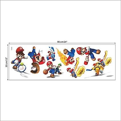 Super Mario Bros Enfants Amovible Sticker Mural Stickers Pour