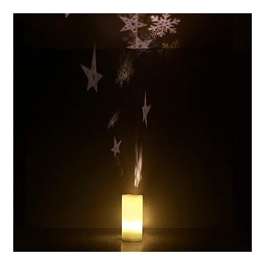 Proyector De Luces, De Velas Navidad Proyector Luces Con Pilas W ...