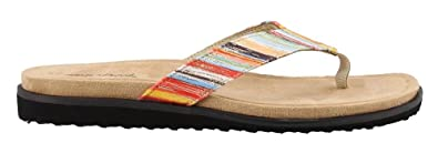 Easy Street 30-7098 Women's Stevie Sandal, Bright Striped Met Multi ...