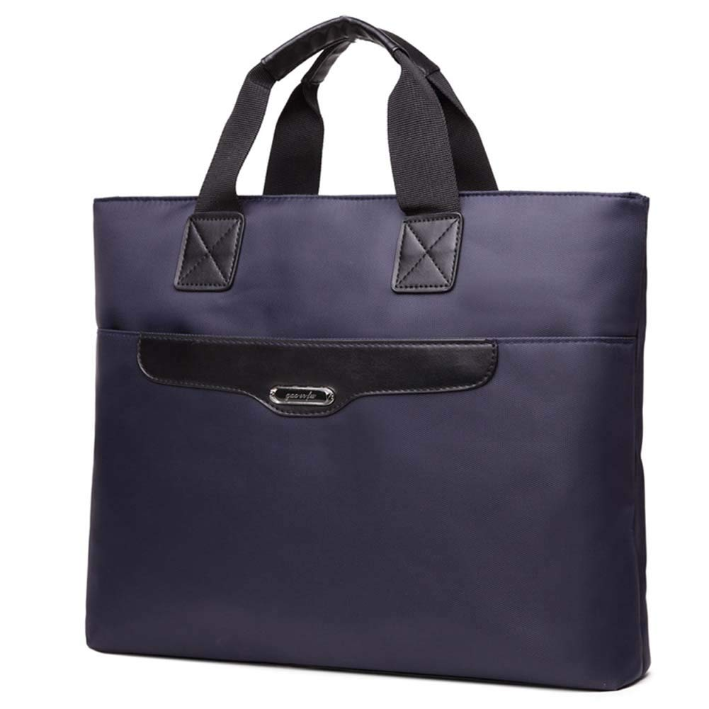 SHENWE Top Handle Business Briefcase Bag Oxford Fabric Business Document Bags A4 Size File Folder Briefcase for Office Meetings Travel Blue