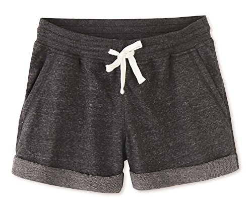 Vetemin Women's Cotton Stretch Activewear Lounge Shorts Charcoal Melange - Shorts Comfortable Womens