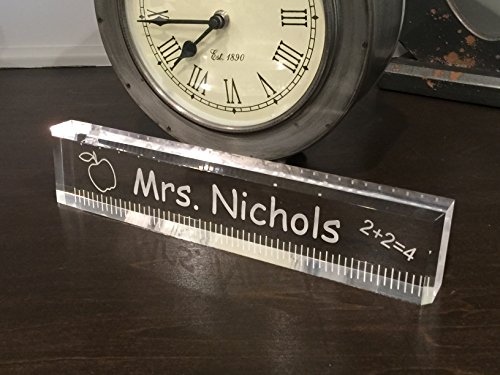Acrylic Teacher Office Desk Bar - Beautiful teacher appreciation gift.