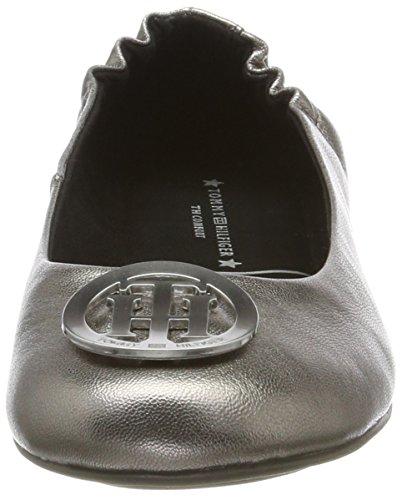 dark Para A1285ppleton Plateado Bailarinas Silver 15z Tommy Mujer Hilfiger ZqwIn50