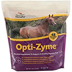 Manna Pro Corp 1000082 Opti-Zyme Microbial Digestive Supplement for Horse, 3-Pound