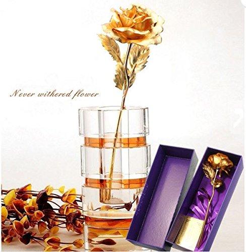 K0006 24K Gold Foil Golden Rose Valentine's Day Gift