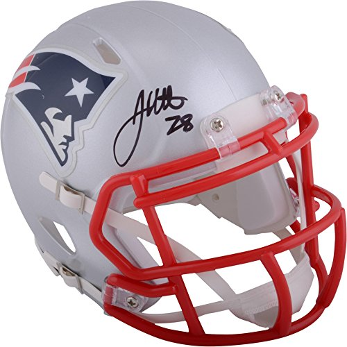 - James White New England Patriots Autographed Riddell Speed Mini Helmet - Fanatics Authentic Certified