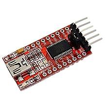 Conversion adapter - SODIAL(R) FT232RL Module 5V 3.3V FTDI USB TTL conversion adapter Red