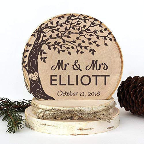 Rustic Wedding Cake Topper. Wind Tree with Mr & Mrs Cake Topper. Rustic Wood Cake Topper. Wedding Keepsake. Rustic Wedding