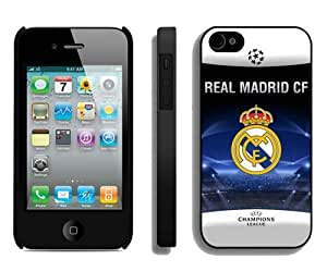 Real Madrid Black Case Cover for iPhone 4 4S Grace and Cool Design