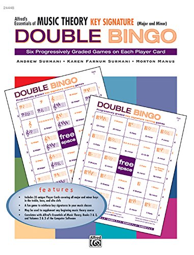 (Alfred's Essentials of Music Theory: Key Signature Double Bingo (Major and Minor))