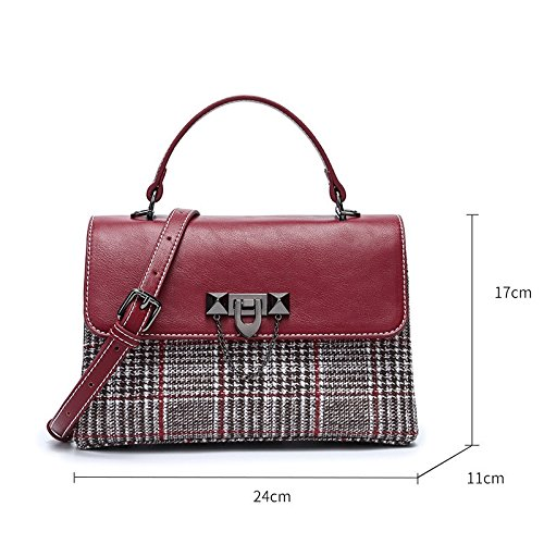amp;QIUMEI Bag 24 Spring Summer 17Cm Shoulder OME With wine Small Red Bag 11 Bag Square Single Shoulder 4PRwnAdq