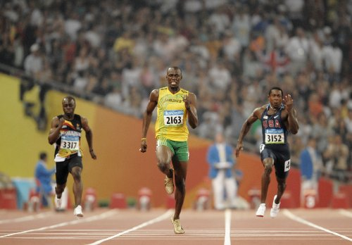 Usain Bolt Olympic Athlete Mens Track And Field Photo Poster 24X36  3