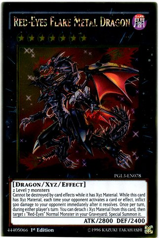 Yu-Gi-Oh! - Red-Eyes Flare Metal Dragon (PGL3-EN078) - Premium Gold: Infinite Gold - Edition