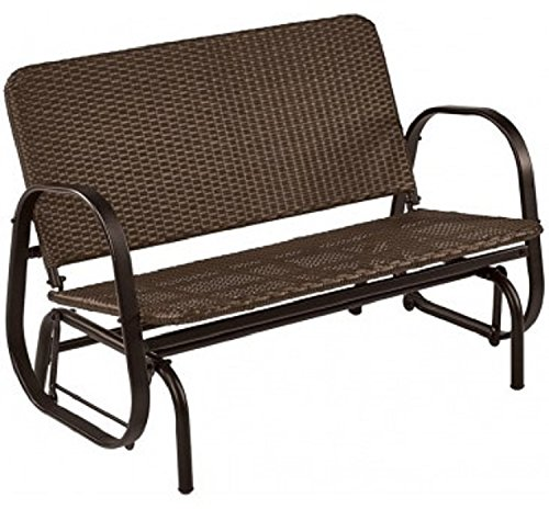 Wicker Glider 2seat by LIVING ACCENTS