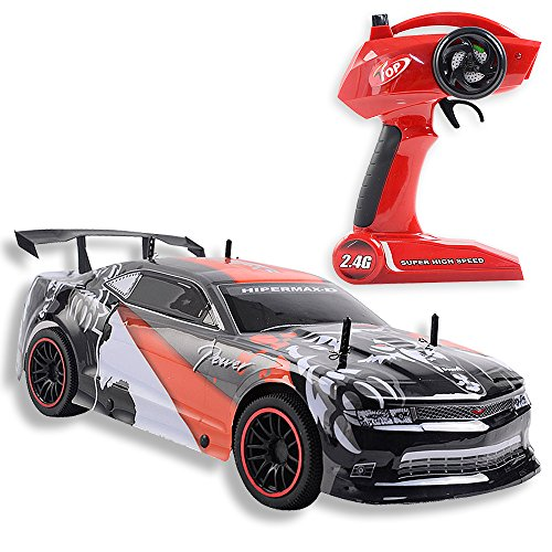 LARGE Super Fast Racing Series Car 1/10 Scale, 2.4G 4CH Radio Remote Control RC Car, Rechargeable NiCd Battery & Charger Included, RTR, Streamline Interior Exterior, High Speed Performance! Rc Super Powers