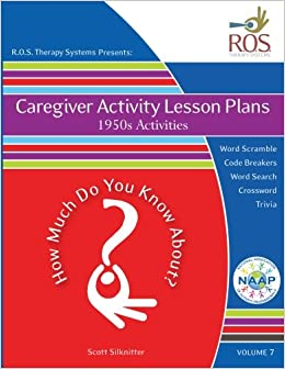 Caregiver Activity Lesson Plans 1950s How Much Do You Know About Volume 7 Large Print