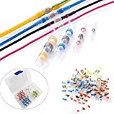 Migiwata Heat Shrink Crimpless Waterproof Insulated Transparent Solder Sleeve Wire Splice Electrical Cable Connectors Kit of 50PCS for Maintenance and Repair of Electronic Equipment