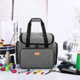 Luxja Serger Case with Detachable Dolly, Serger Bag