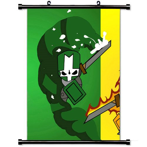 Wall Posters Wall Scroll Poster with Castle Crashers Characters Arm Magic Graphics Home Decor Fabric Painting 23.6 X 35.4 Inch