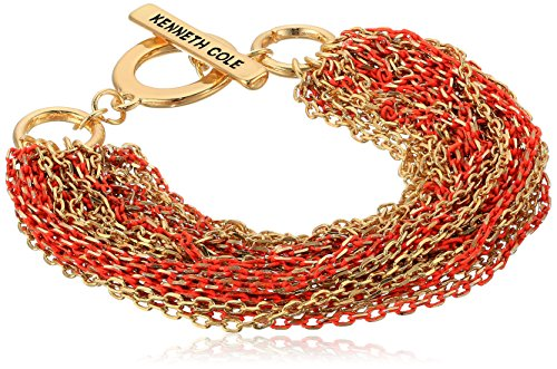 Kenneth Cole New York Women's Multi Chain Bracelet, Coral, One Size