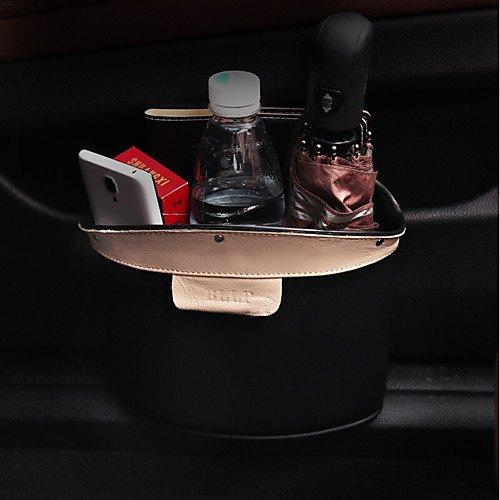 QCSN Siège du véhicule Porte latérale arrière Porte d'entrée de voiture Rangement de Voiture Pour Universel Toutes les Années Cuir , brown hot sale 2017