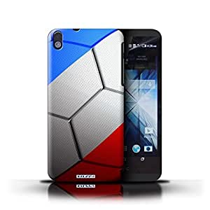 KOBALT? Protective Hard Back Phone Case / Cover for HTC Desire 816 | France/French Design | Football Nations Collection