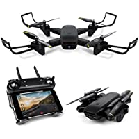LBLA FPV Drone with 720P HD Camera Live Video Headless Mode 2.4GHz 4 CH 6 Axis Gyro RTF RC Quadcopter Black