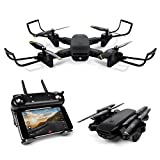 LBLA Drone Camera,WiFi FPV Quadcopter 720P HD Camera Live Video, Headless Mode 2.4GHz 4 CH 6 Axis Gyro Foldable RTF RC Quadcopter Black